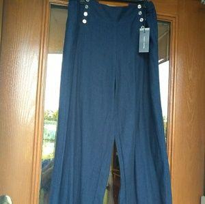 Denim Linen Pants